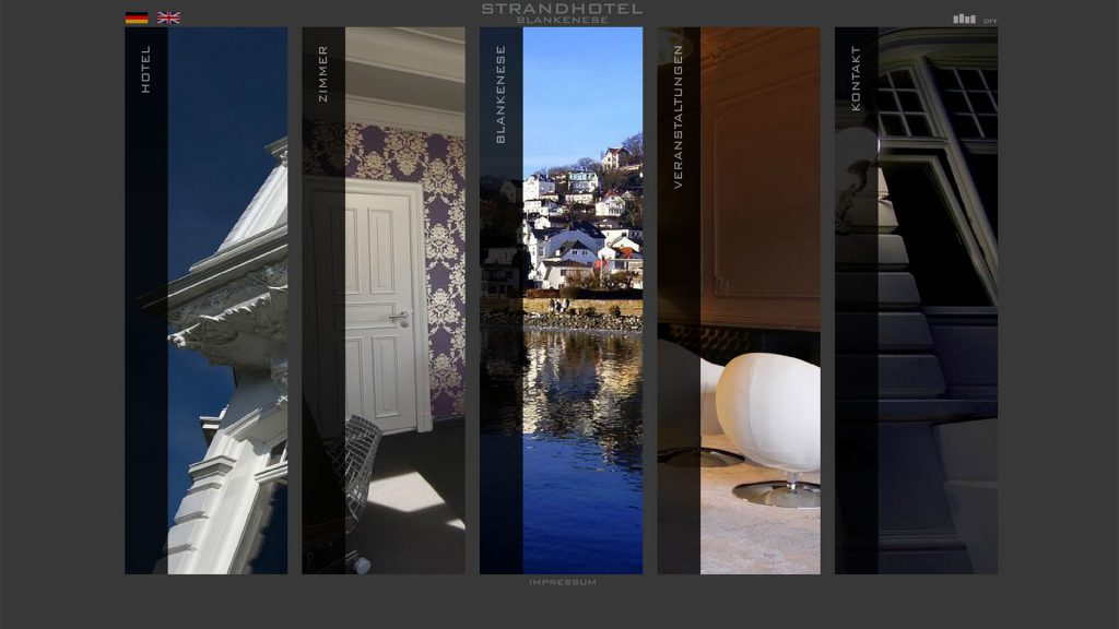 Strandhotel Blankenese the good one Werbeagentur Webdesign Fotografie Hamburg